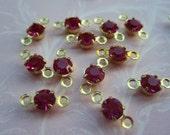 Swarovski Fuchsia Tiny Crystal Connectors -16