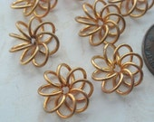 Brass Coiled  Floral Findings -12