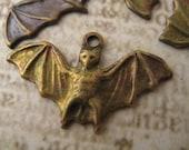 Brass Oxidized Bat Charms-8