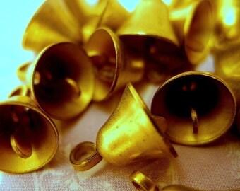 Small Brass Bells - Lot of 12
