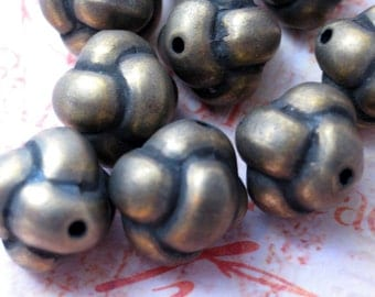 Knot Beads- Metallized Beads -12