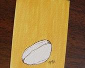 SALE - Coffee Bean - Original ACEO by Ayrielle Davis