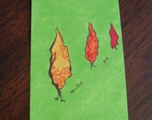 Spring Cleaning Sale - Tree Line - Original ACEO by Ayrielle Davis