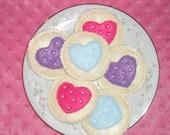 Sweet Heart play food cookies set of 6