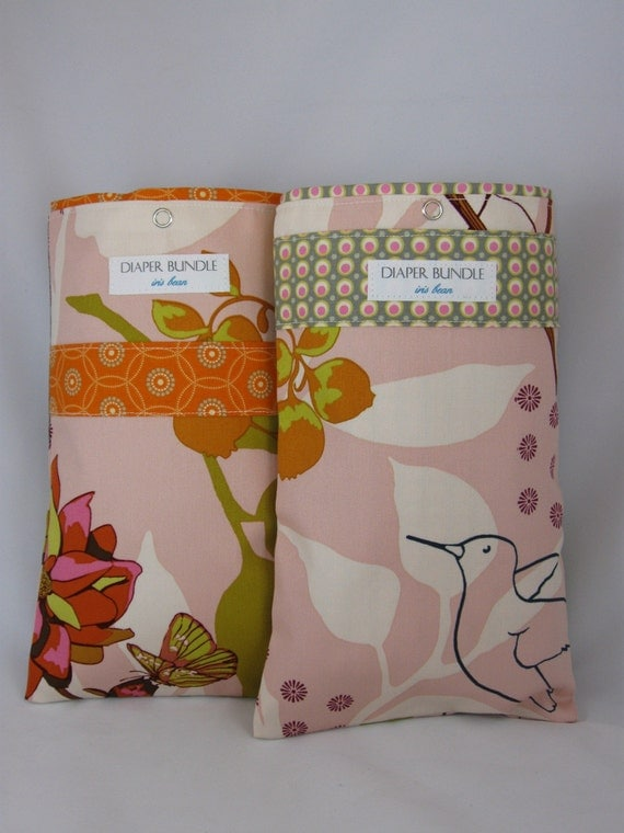 Diaper Bundle - 01 Rose - neatly holds your  wipes case and up to 3 diapers together