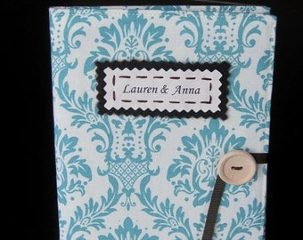 Mother's Day photo album damask personalized gift for her