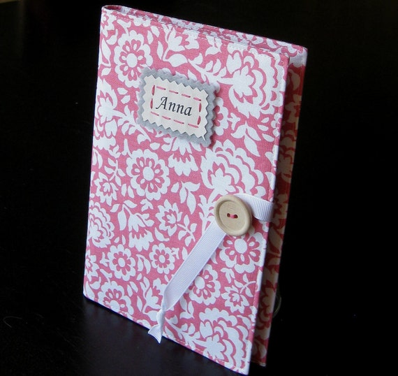 personalized brag book photo album pink and white floral Mother's Day Gift