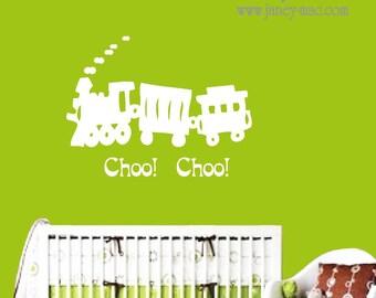 Vinyl Wall Decal Train Choo Choo Boy Bedroom Nursery Wall Decor Vinyl Wall Art Sticker