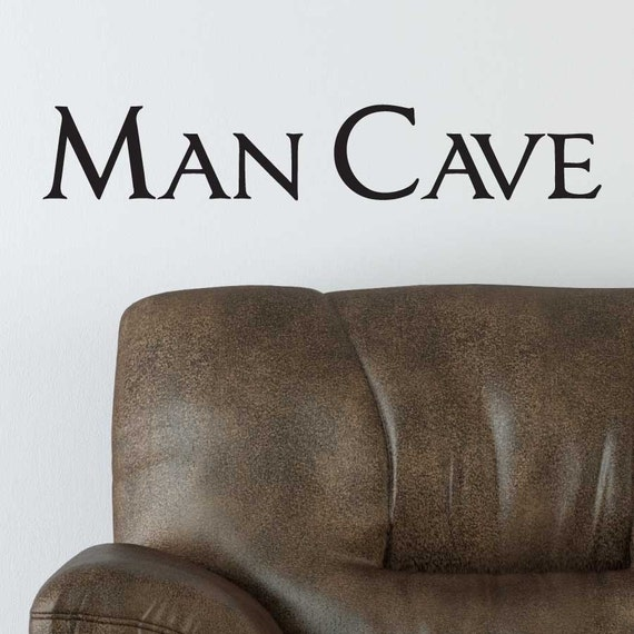 Man Cave Vinyl Wall Art : Vinyl wall art man cave sticker decal by janeymacwalls on etsy