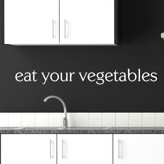 Vinyl Wall Art  - Eat Your Vegetables