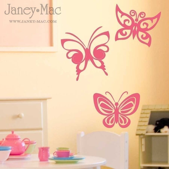 RESERVED for smimata123 - Vinyl Wall Art - Whimsical Butterflies-AC119