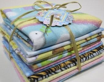 Noah's Journey cotton FLANNEL Fat Quarter Bundle