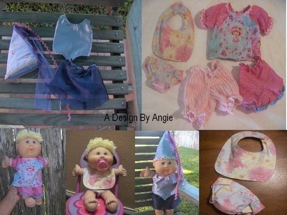 sewing pattern pdf for cabbage patch baby doll clothes diapers