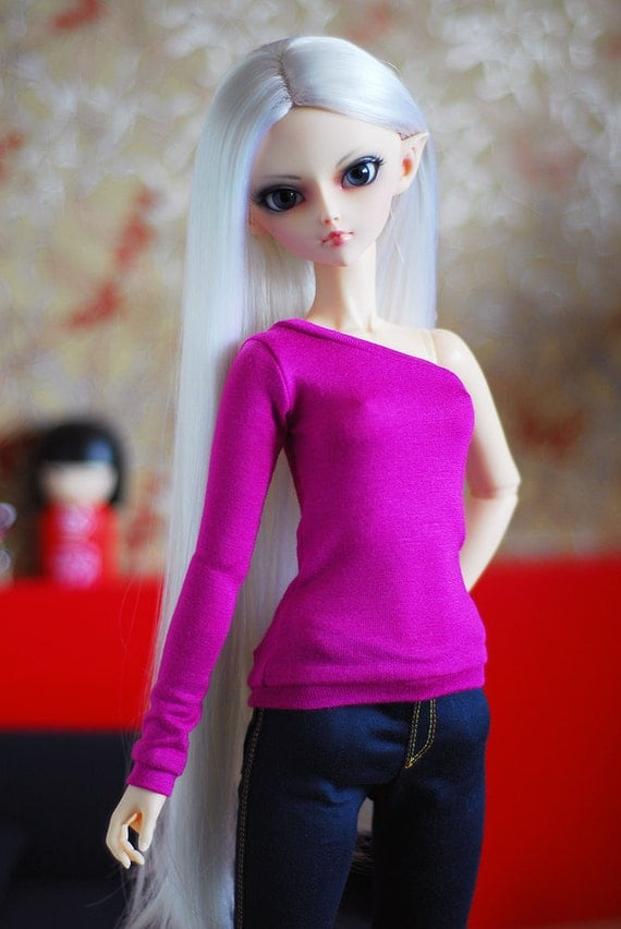Pink jersey top - SD Delf BJD clothes