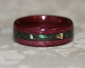 Custom Wooden Ring with Crushed Stone Inlay