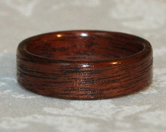 Black Walnut Wood Ring Custom Made to Your Size (Other Woods Available) // Wooden Wedding Ring // Wood Wedding Band