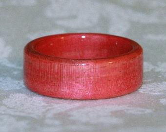 Bent Wood Ring - Pink Ivory