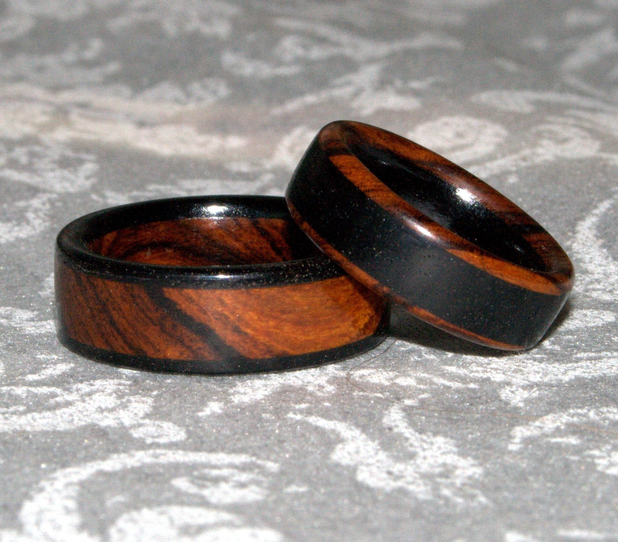 Wooden Rings Custom Set Made To Order