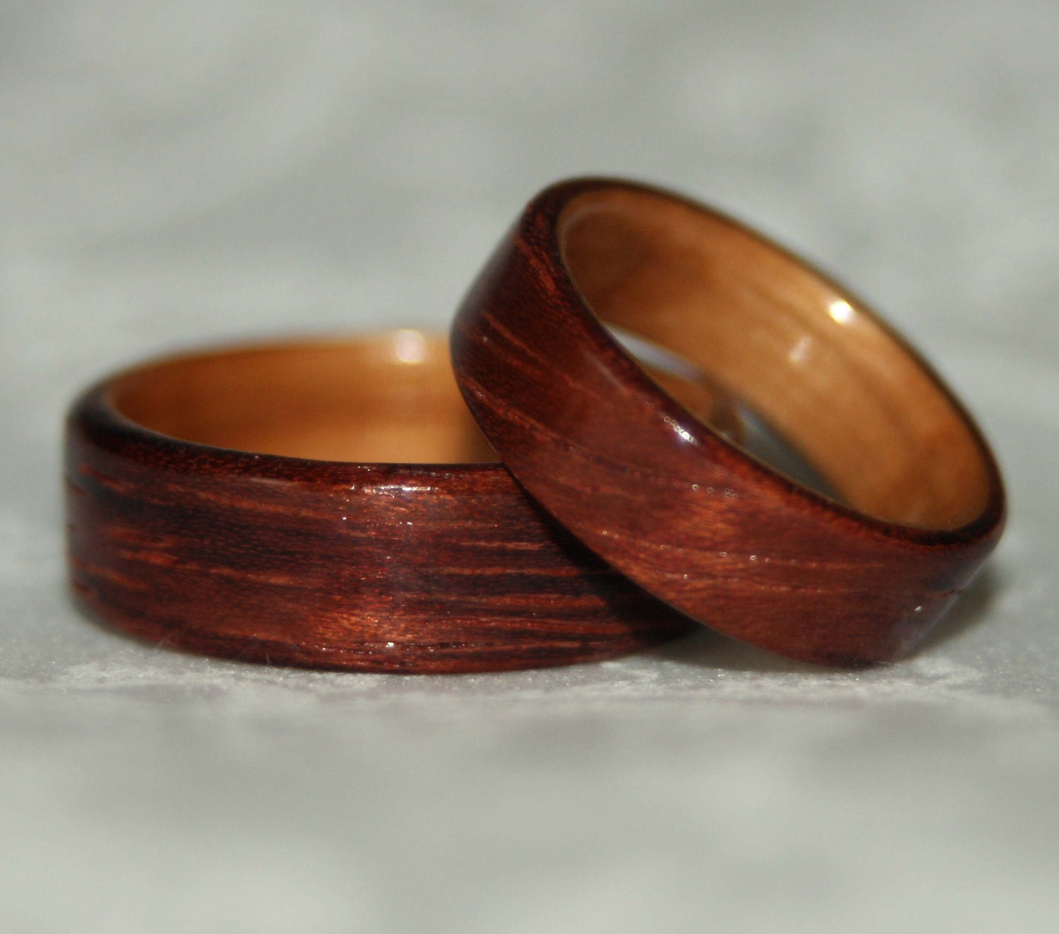 Wooden Wedding Rings With Liner Custom Woods Of Your Choice