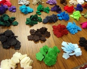 "Die cut 3/4"" mini Felt Flowers 30 pcs your choice of 1 color"