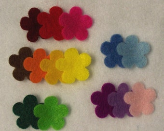 Tiny felt flowers assortment 28 pcs