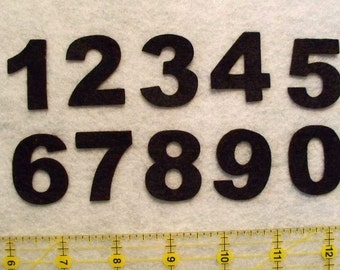 """1.25"""" Numbers 1-31 Calendar CRAFT Felt numbers , Arial block font your choice of color"""