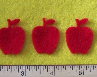Felt Apples 12 pcs Red or any color