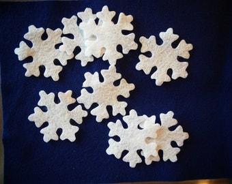 3 inch snowflakes 12 pcs Wool Blend Felt