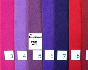 CRAFT FELT & CIRCLE Sizes Kunin color charts