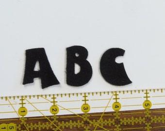 "Funhouse 1.25"" Alphabet letters craft felt your choice of colors"