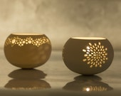 Two Porcelain Tea light Delight of your choice. Design by Wapa Studio.
