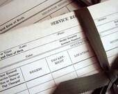 Vintage Ephemera Service Discipline Record Paper Forms Collage