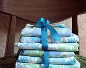 SALE. Vintage Pack of Blue Linen Fabric. Destash.