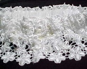 Handmade Venice Lace with Beaded applique