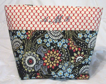 Personalized Diaper Bag . Tote . Weekender/XL size . Amy Butler Geisha Fans .  Monogrammed Teacher's Tote . Beach Bag