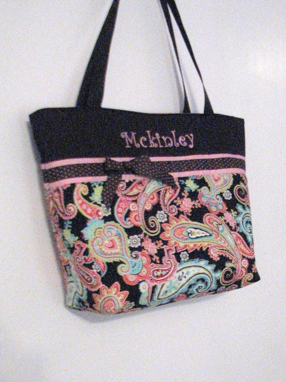 personalized diaper bag regular size patti paisley. Black Bedroom Furniture Sets. Home Design Ideas