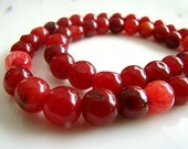 Beautiful Candy Apple Red Quartz Smooth Nuggets
