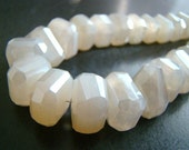 1/2 Strand--Mystic Pearl Chalcedony Faceted Center Drilled Nuggets