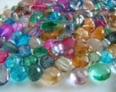 Wholesale Lot---Spring Colors--- Quartz Rondelles, Briolettes and Cubes---7 Ounces
