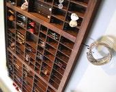 Vintage Letterpress drawer Jewelry Holder