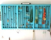 Jewelry Display in Distressed Teal