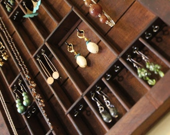 Printers Typeset Tray Jewelry Display