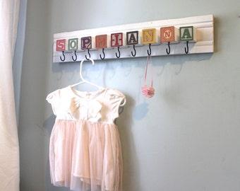 Custom Nursery Name Storage Rack