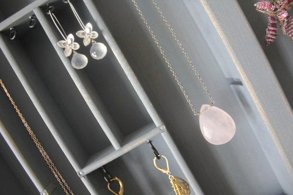 Shabby Chic Gray Jewelry Display