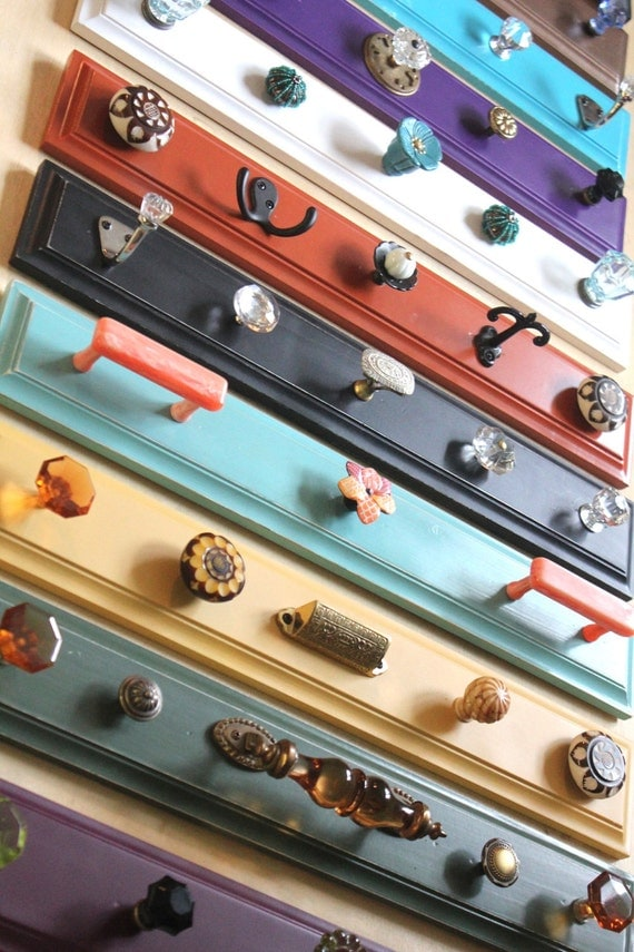 Colorful unique Hook Rack - pick one