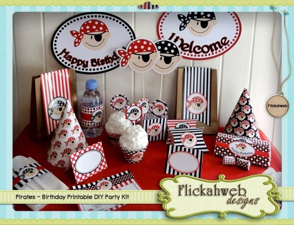 pirate birthday printable diy pirate party decorations by flickahweb - Pirate Decorations