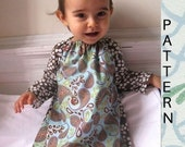 Epattern\/Instructions SPRING EVERYDAY DRESS\/ BLOUSE - with endless options- 12m to 4T