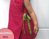Reversible kimono dress- Instant download-PDF pattern-12m to 4T