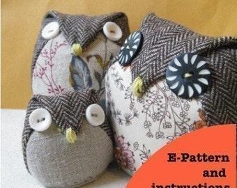 Owls family - Instant dowload - 3 sized owls - Bonus feature-