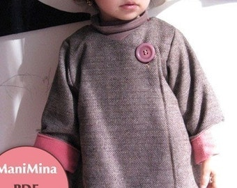 Mademoiselle coat -Instant download - PDF pattern - 12m to 4T-